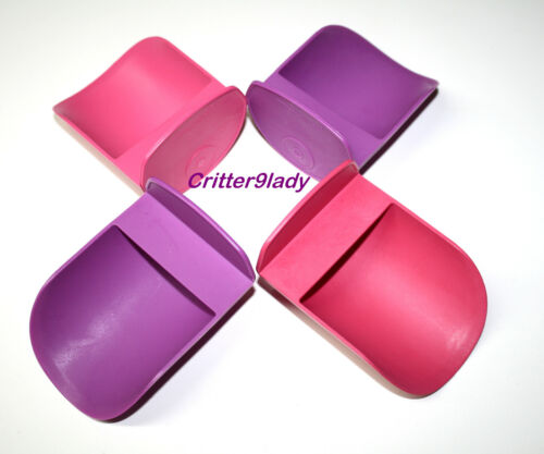 NEW Tupperware Lot of Canister Rocker Scoops in Purple and Pink