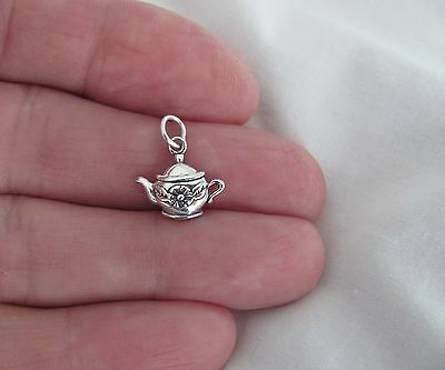 Sterling Silver teapot small charm.