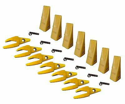 7 - Cat Style J200 Backhoe Bucket Shanks 1 Lip Dirt Teeth - 1u-3202 119-3204