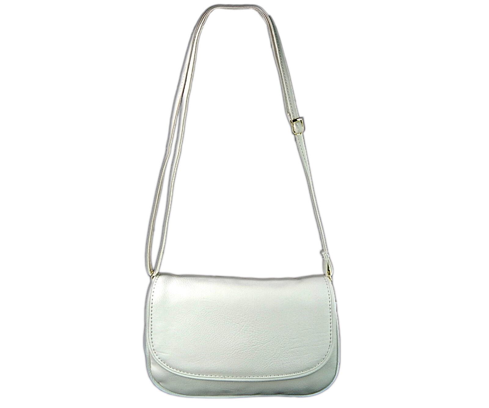 Abendtasche Frauen Exklusive Premium Kleine Handtasche Umhängetasche Weiß 1