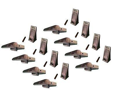 8 Ex Backhoe Skid Bucket Weld-on Shanks Teeth Pins 1 Lip- 550x156 X156