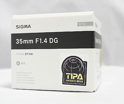 Sigma Art  35mm F/1.4 DG HSM Lens For Canon + Filter