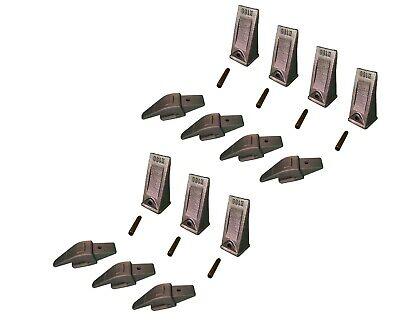 7 Ex Backhoe Skid Bucket Weld-on Shanksteeth Pins 34 Lip- 552x156 X156