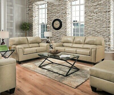 Acme Phygia Tan Top Grain Leather Sofa and Loveseat - Tan Leather Loveseat