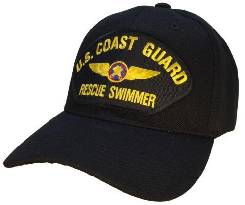 US Coast Guard Rescue Swimmer Hat Black Ball Cap USCG SAR Coast Guard Veteran