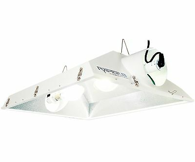 "Hydrofarm Raptor 8"" Air Cooled Grow Light Reflector Hood w/"