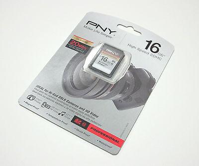 PNY 16g Pro Class 10 Sd Card For Nikon P100 P500 D40 D40x...