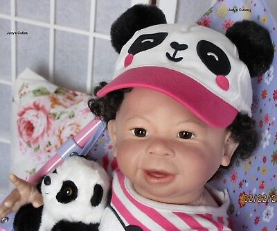 Reborn baby Camilo, now baby Aleyah with tummy plate,lauscha glass eyes,A/A,ethn for sale  Shipping to Canada