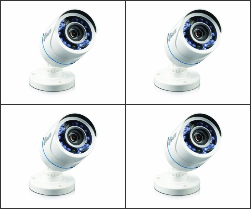 New Swann SRPRO-T850WB4-US PRO-T850 HD 720p Analog Bullet Security Camera 4 PACK