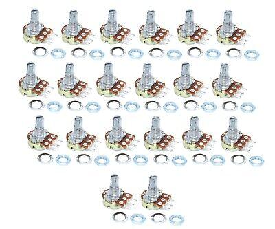 20pcs 10k Ohm Linear Taper Rotary Potentiometer Panel Pot B10k 15mm