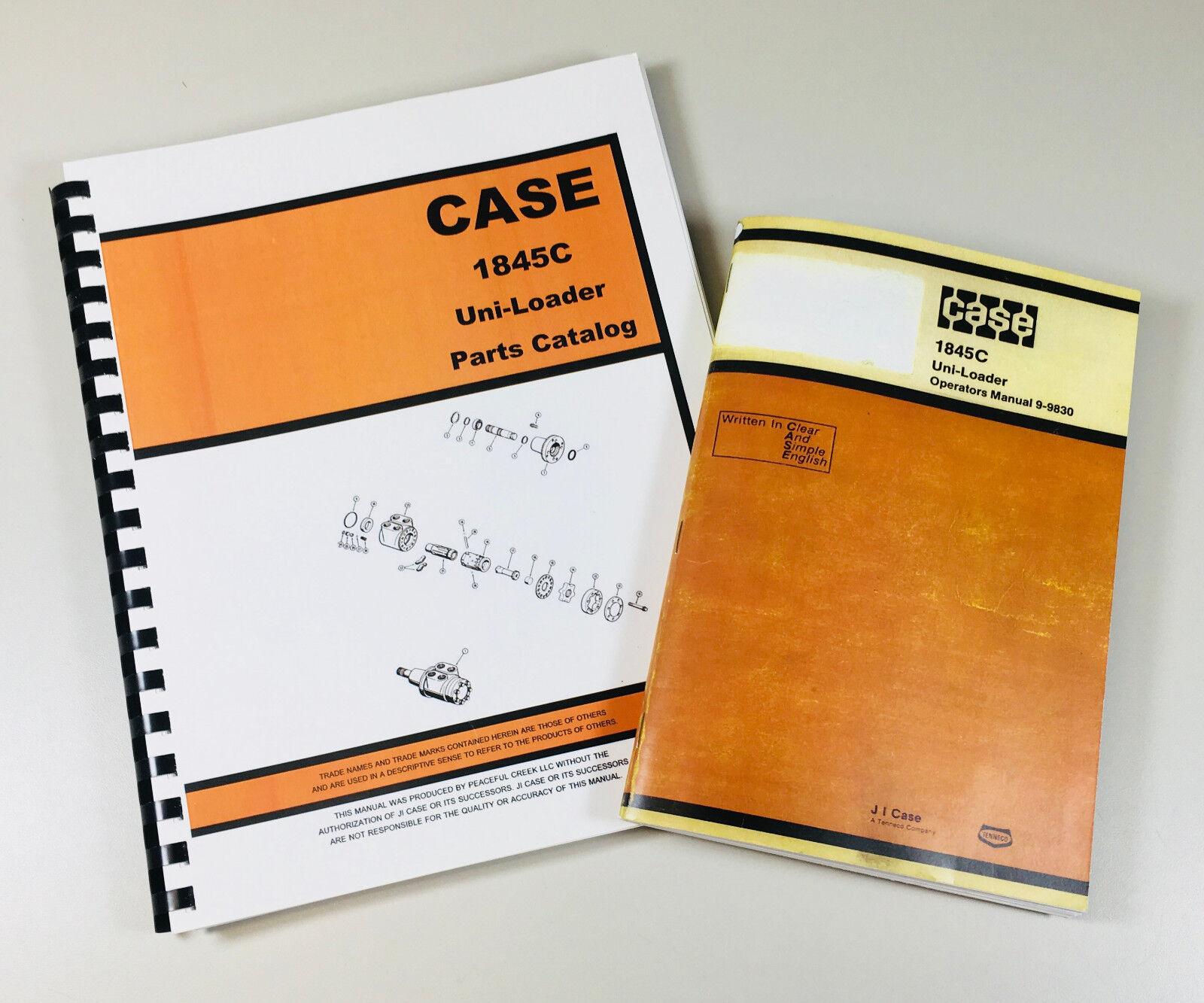 1845C CASE UNI-LOADER. Parts Manual Includes: