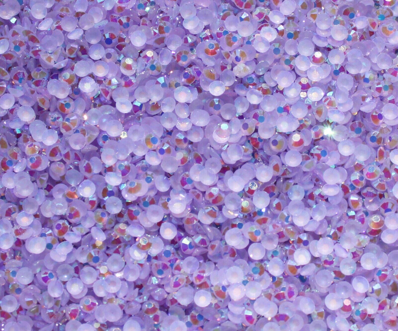 1000 Crystal Flat Back Resin Rhinestones Gems 60 colors, 2mm, 3mm, 4mm, 5mm, 6.5 LIGHT PURPLE AB