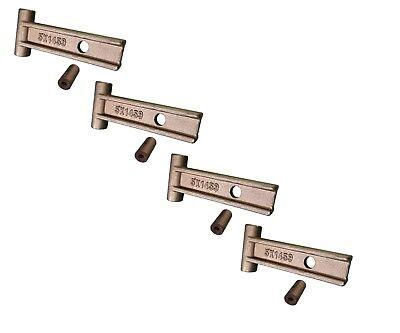 4 Caterpillar Style Scarifier Shank T-lock W Grommet 5k-1458 5k-1459 9f-5116