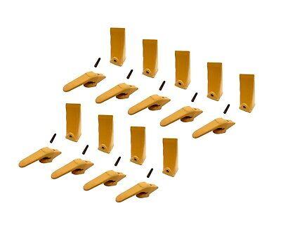 9 Mini Excavator Weld-on Adapters Teeth Pins Combo 238-3204 58 238-3202 Lp