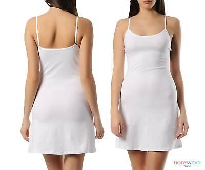 Unterkleid Hemdrock Antistatisch Damen Unterröcke Unterkleidung Weiß KC85