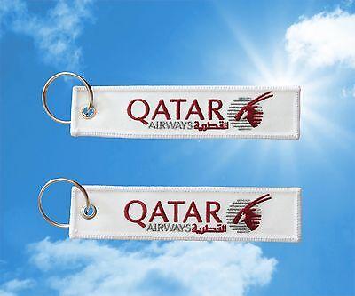 Qatar Airways Keychain Keyring Baggage Luggage Tag