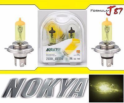 Nokya 2500K Yellow 9003 HB2 H4 Nok7613 60/55W Two Bulbs Head Light Snowmobile