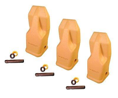 3 - Heavy Duty Abrasion Loader Bucket Teeth W Pins - J250hdal Fits Cat J250