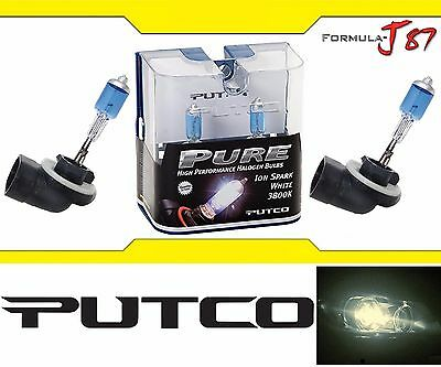 Putco 3800K Iron White 881 230881SW 27W Two Bulbs Head Light Replace Snowmobile