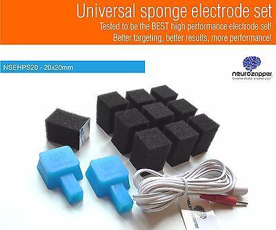tDCS Sponge electrode kit ! 20mm set from Neurozapper.