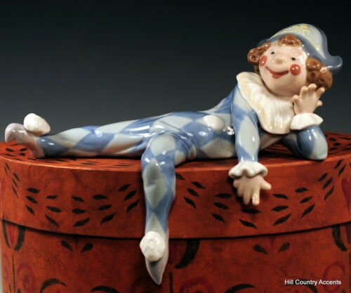"LLADRO - ""NEGLECTED"" - #1503 - PART OF LEDGE HANGERS - BOY DOLL RECLINING - MINT"