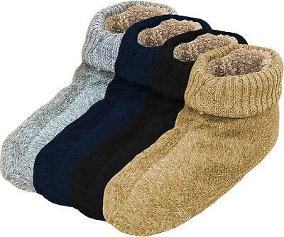 Herren Pantoffel Socke (Haussocken Herren Pantoffel-Socken ABS-Sohle EXTRA WEIT Plüsch gefüttert 39-46)