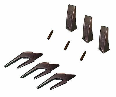 3 Mini Ex Backhoe Bucket Teeth Weld-on Shanks For 34 Lip W Pins - X156l