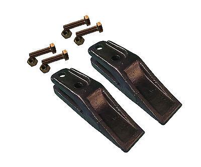 2 - Bobcat Style Skid Steer Mini Ex Bucket Uniteeth W Hardware - 6684447