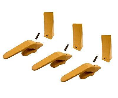3 Mini Excavator Weld-on Adapters Teeth Pin Combo 238-3204 1 238-3202 Hdl