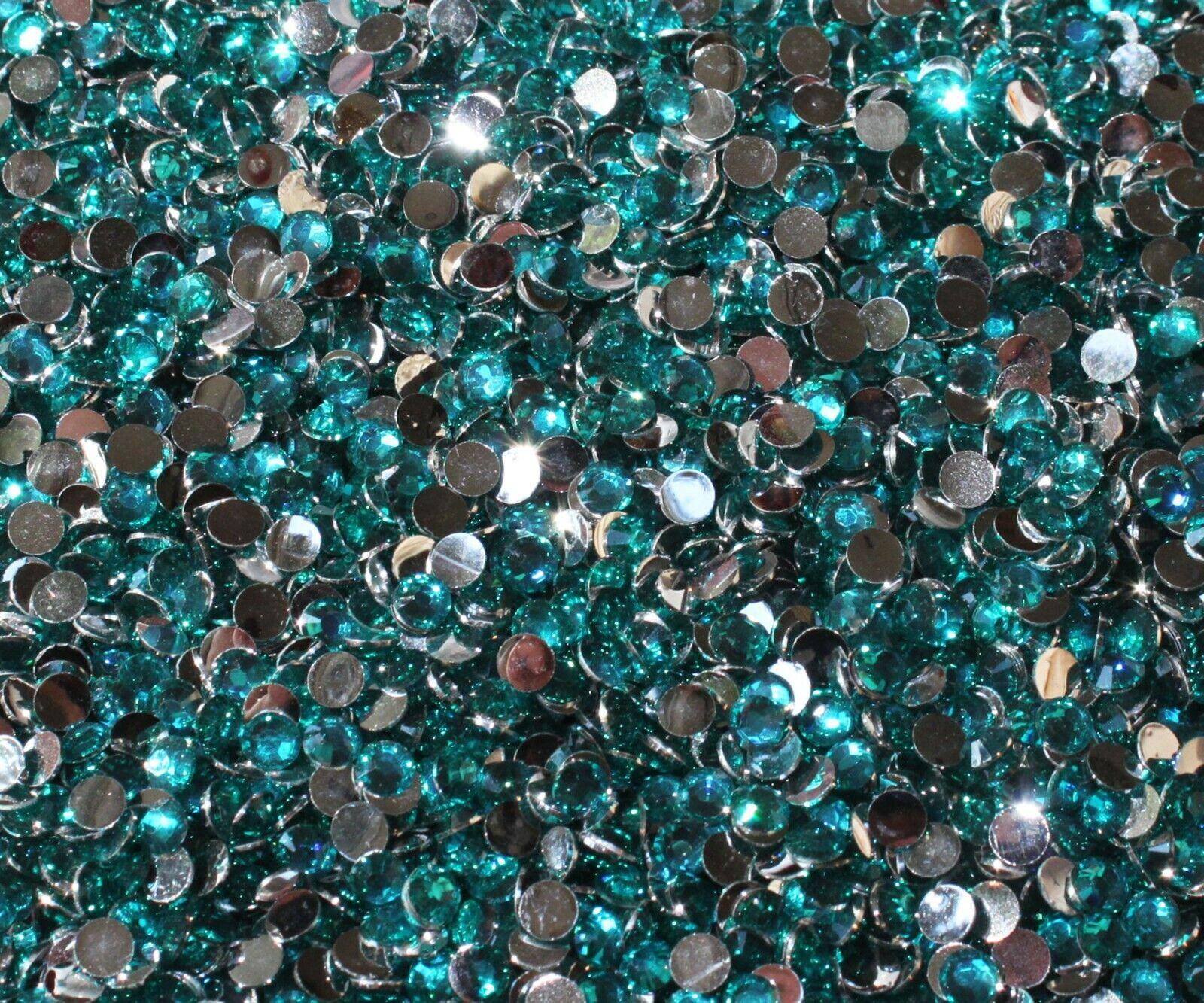 1000 Crystal Flat Back Resin Rhinestones Gems 60 colors, 2mm, 3mm, 4mm, 5mm, 6.5 CAPRI BLUE