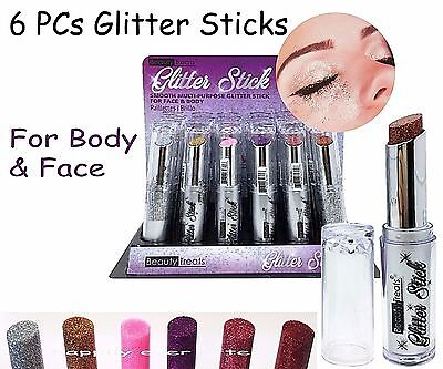 Beauty Treats Glitter Stick for Face & Body *All 6 Colors* USA SELLER, - Glitter Stick