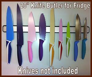 20-KNIFE-BUTLER-FRIDGE-2Sided-All-Rubber-Magnetic-Knife-Rack-For-Side-of-Fridge