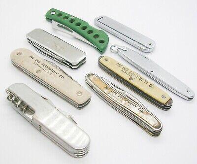 Vintage Folding Knives Lot of 8 Multi Tool Pocket Saw Advertisement