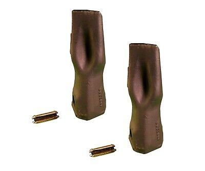 2 Backhoe Bucket Teeth 195-7206 - Long Tip W Pin Fits Cat Drs200 Adapters