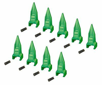9 - Esco Style Super V Mini Excavator Tiger Rock Bucket Teeth - V13vy V13-17pn