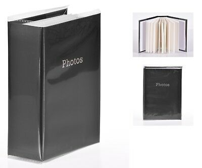 6'' x 4'' Slipin Photo Album Holds 120 Photos Photography Storage - BLACK