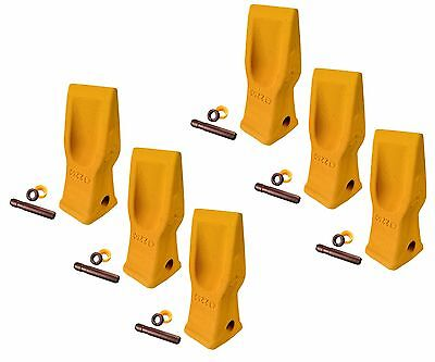 6 Cat Style Excavator Backhoe Skid Bucket H.d. Abrasion Bucket Teeth- 4t-2203