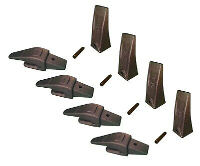 4 Mini Ex Backhoe Skid Bucket Weld On Shanks Teeth Pins 34 Lip- 552x156