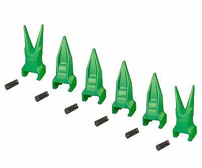 6 - Esco Style Super V Backhoe Mini Excavator Rock Bucket Teeth - V13tvy V13vy