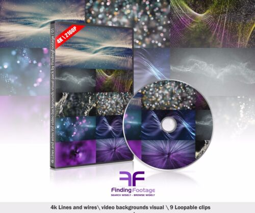 4K video background pack (9 clips) / Royalty free / Vj loops / stock video 2160P