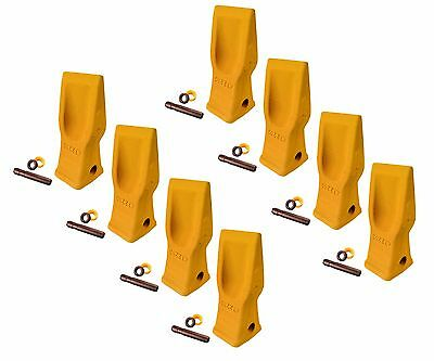 8 Cat Style Excavator Backhoe Skid Bucket H.d. Abrasion Bucket Teeth- 4t-2203