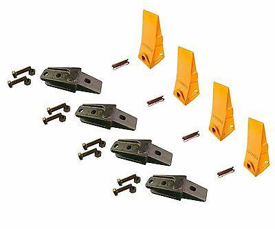 4 - Bobcat Style Mini Ex Skid Bolt On Bucket Shanks Teeth Pins Hardware