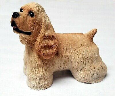 Cocker Spaniel Dog Figurine STONE CRITTERS Resin Statue 1980s VINTAGE SCB-100