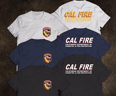 New California Firefighter Fire Department Rare Firearm T Shirt