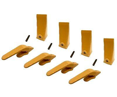 4 Mini Excavator Weld-on Adapters Teeth Pins Combo 238-3204 1 238-3202 Lp