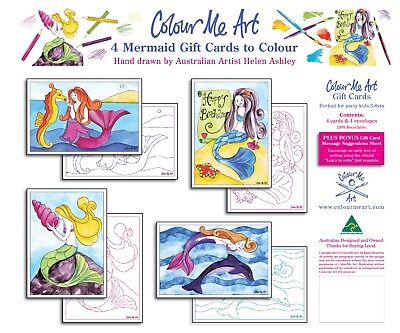 Mermaid - Colouring Kits for Kids, craft, gift girls, birthday party, mermaids - Mermaid Gifts For Kids