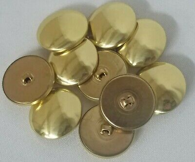10 Count Buttons - Brass Metallic Gold Shank Dutch Costume Coat Buttons (Counting Buttons)