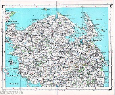 Fyn Odense Fredericia 1923 Generalstabs-Karte Nyborg Assens Bogense Kerteminde