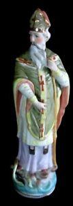 LOVELY VINTAGE STATUE OF ST. PATRICK--9