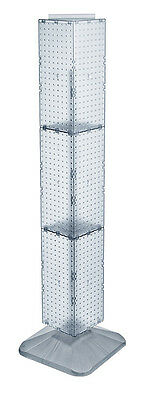 Clear 4-sided Pegboard Display On Revolving Base 8w X 60h Inches